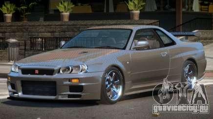 Nissan Skyline R34 LT PJ1 для GTA 4