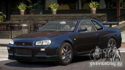 Nissan Skyline R34 GT-R V1.1 для GTA 4