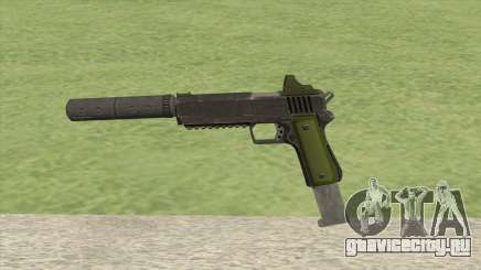 Heavy Pistol GTA V (Green) Suppressor V2 для GTA San Andreas