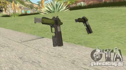 Heavy Pistol GTA V (Green) Flashlight V2 для GTA San Andreas