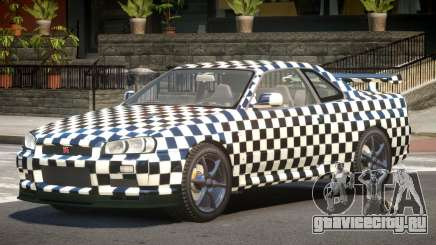 Nissan Skyline R34 GT-R V1.1 PJ2 для GTA 4