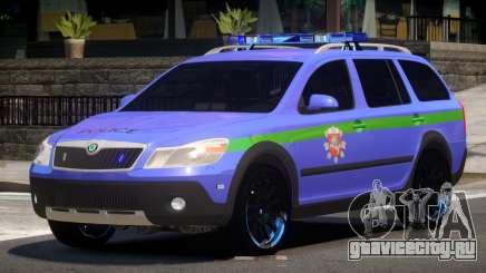 Skoda Octavia Scout Police V1.0 для GTA 4