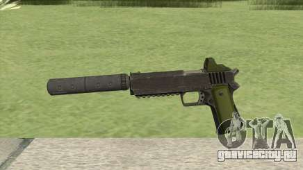 Heavy Pistol GTA V (Green) Suppressor V1 для GTA San Andreas