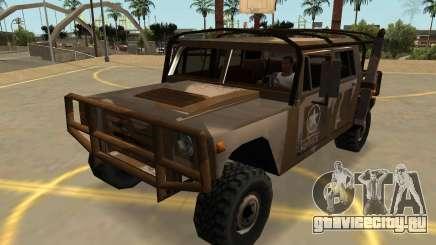 Мамонт Патриот Военных С Значки И Массовка для GTA San Andreas