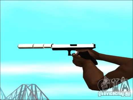 Пак оружия Белое Золото для GTA San Andreas