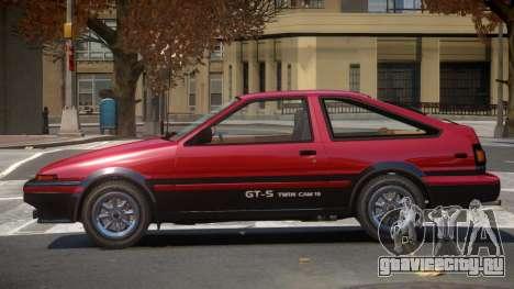 Toyota AE86 GT-S Hatchback для GTA 4