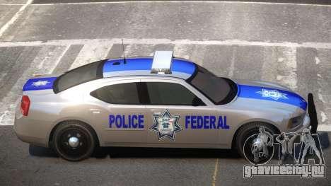 Dodge Charger Police Federal для GTA 4