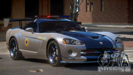 Dodge Viper RT Police для GTA 4