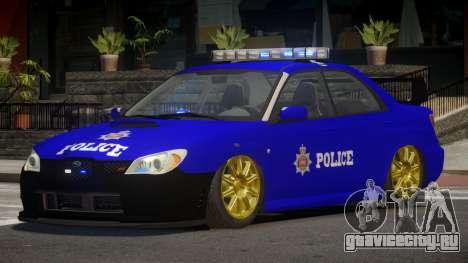 Subaru Impreza RS Police для GTA 4