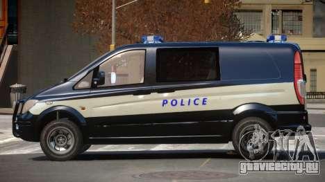 Mercedes Benz Vito Police для GTA 4