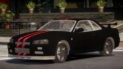 Nissan Skyline R34 SR для GTA 4