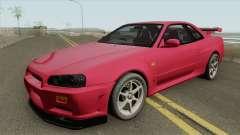 Nissan Skyline R34 GT-R IVF для GTA San Andreas