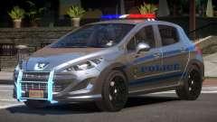 Peugeot 308 Police для GTA 4