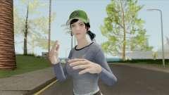 PUBG Female Skin (Varsity Jacket Outfit) для GTA San Andreas