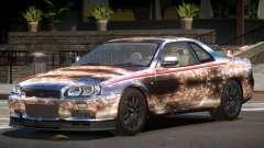 Nissan Skyline GT-R R34 Qz PJ2 для GTA 4