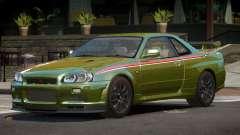 Nissan Skyline GT-R R34 Qz PJ4 для GTA 4