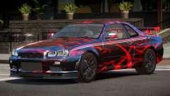 Nissan Skyline GT-R R34 Qz PJ1 для GTA 4