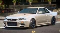 Nissan Skyline R34 GTR ST для GTA 4