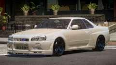 Nissan Skyline R34 V2.1 для GTA 4