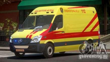 Mercedes Benz Sprinter Ambulance для GTA 4