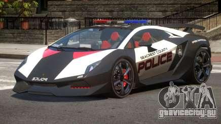 Lamborghini SE Police V1.2 для GTA 4