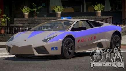 Lamborghini Reventon Police для GTA 4