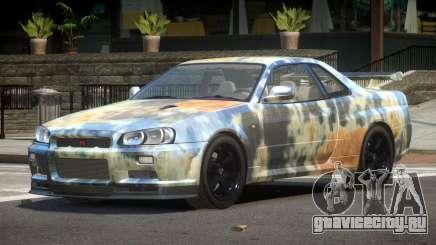 Nissan Skyline R34 E-Style PJ4 для GTA 4