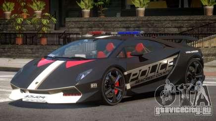 Lamborghini SE Police V1.3 для GTA 4