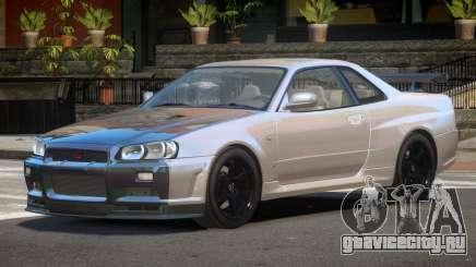Nissan Skyline R34 E-Style PJ6 для GTA 4