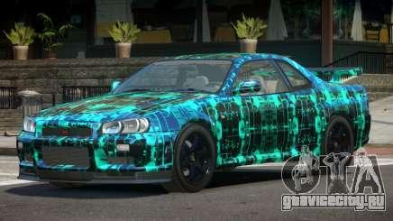 Nissan Skyline R34 E-Style PJ2 для GTA 4