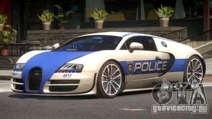 Bugatti Veryon Police V1.2 для GTA 4