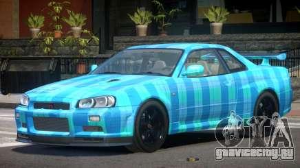 Nissan Skyline R34 E-Style PJ5 для GTA 4