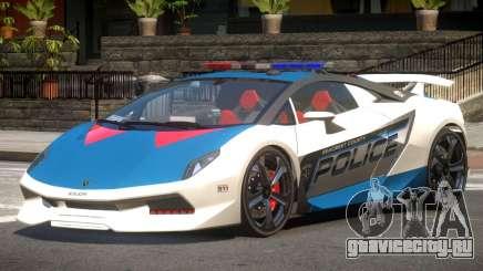 Lamborghini SE Police V1.4 для GTA 4