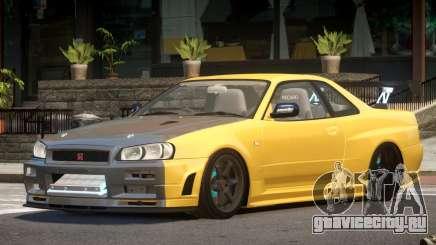 Nissan Skyline R34 S-Tuned для GTA 4