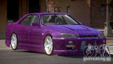 Nissan Skyline R34 SRS PJ2 для GTA 4