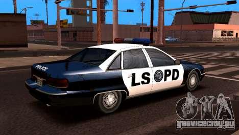 Шевроле Каприс подойдет 1993 SA стиле для GTA San Andreas