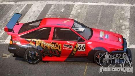 Toyota Corolla GT S-Tuning PJ3 для GTA 4