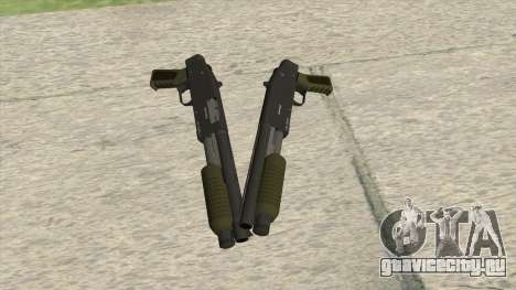 Sawed-Off Shotgun GTA V (Green) для GTA San Andreas