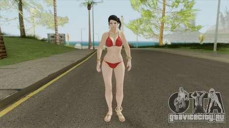 Zafina Bikini (Red) для GTA San Andreas