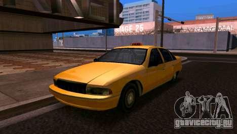 Шевроле Каприс такси 1993 SA стиле для GTA San Andreas