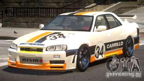 Nissan Skyline R34 D-Style PJ3 для GTA 4