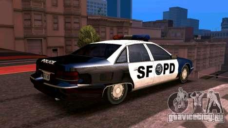 Шевроле каприз полиция 1993 стиль SA для GTA San Andreas