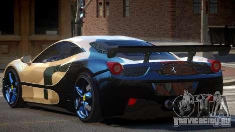 Ferrari 458 SRI-37 PJ3 для GTA 4