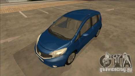 Nissan Note 2013 для GTA San Andreas