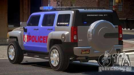 Hummer H3 Police V1.0 для GTA 4