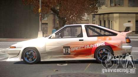 Toyota Corolla GT S-Tuning PJ2 для GTA 4