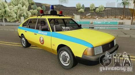 АЗЛК 21418 Москвич (ГАИ) 1987 для GTA San Andreas