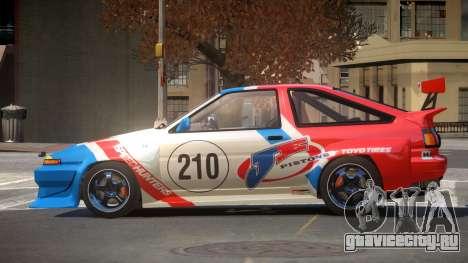 Toyota Corolla GT S-Tuning PJ4 для GTA 4
