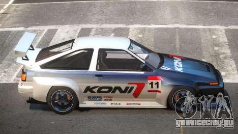 Toyota Corolla GT S-Tuning PJ6 для GTA 4