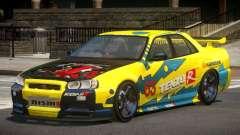 Nissan Skyline R34 D-Style PJ1 для GTA 4